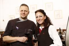 Restaurantleiterin und Küchenchef